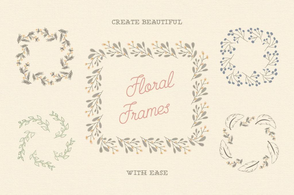 Кисти с цветочным узором